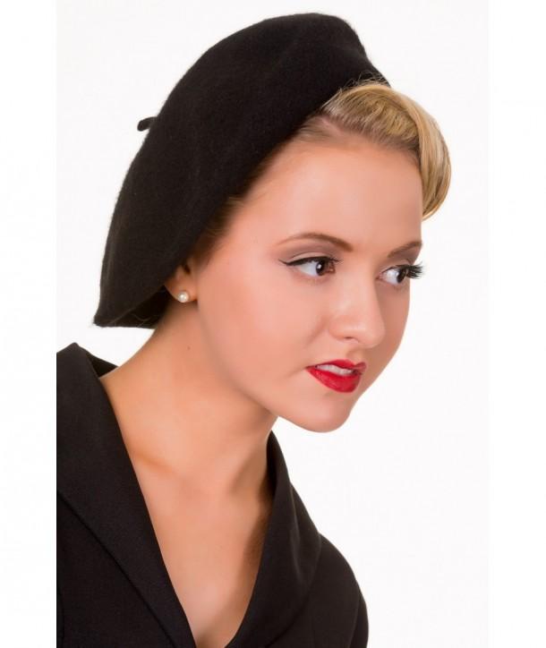 Chapeau Banned Clothing Vintage Claire Hat Noir