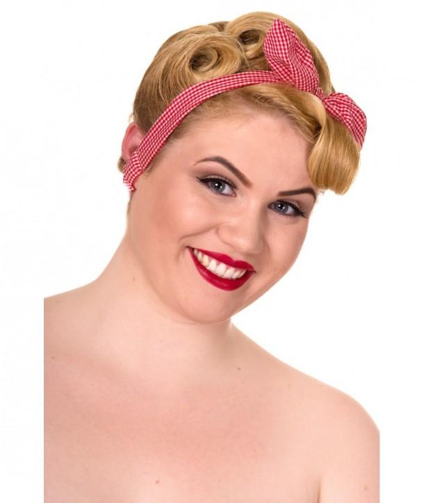 Headband Banned Clothing Brazen Headband Rouge/Blanc