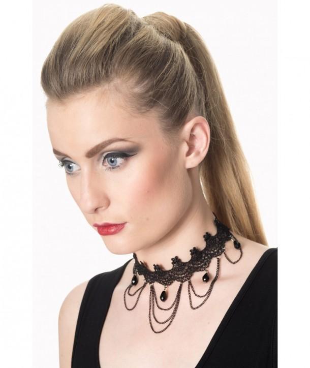 Accessories Banned Clothing Jade Chocker Noir