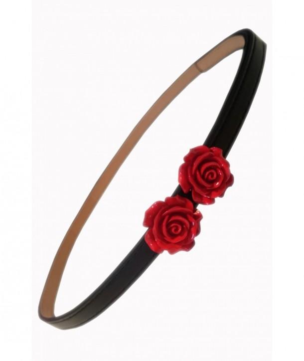 Ceinture Banned Clothing Rose Belt Rouge/Noir
