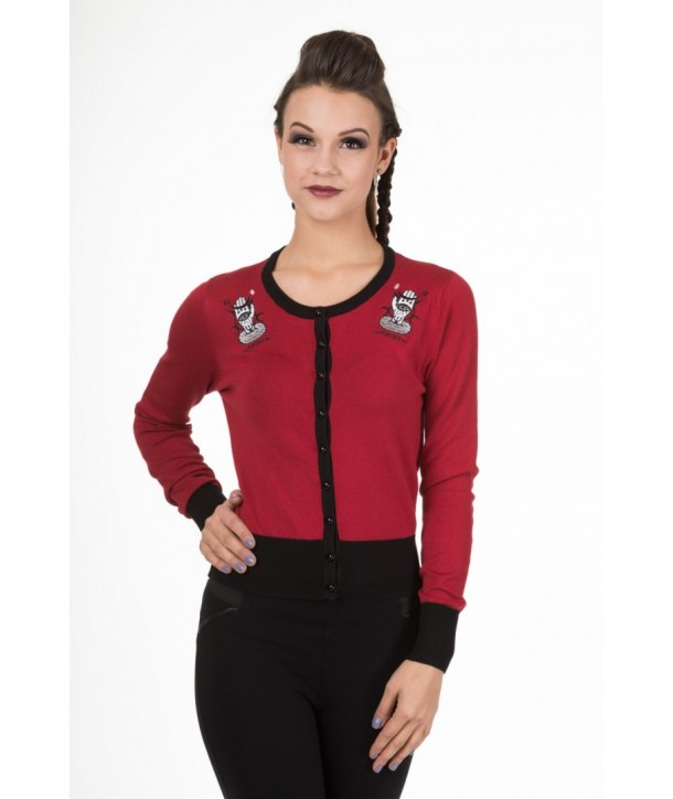 Cardigan Banned Clothing Heavenly Creatures Bordeaux