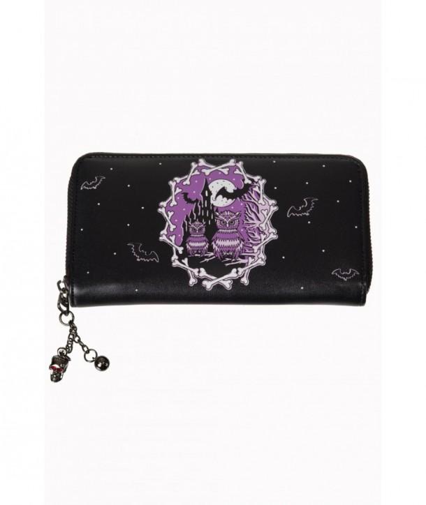 Porte Monnaie Banned Clothing Secret Obession Wallet Noir/Violet