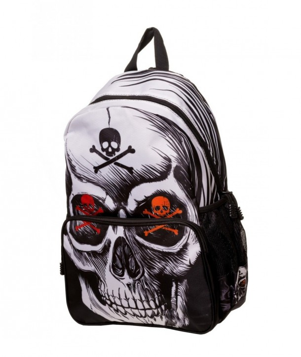 Sac Banned Clothing Toxic Skull Backpack Noir