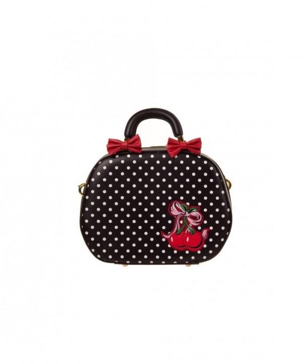Sac Banned Clothing Lucille Bag Noir/Blanc Polka Dots
