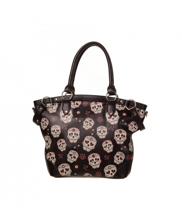 Sac Banned Clothing Mesmerize Bag Skulls/Noir