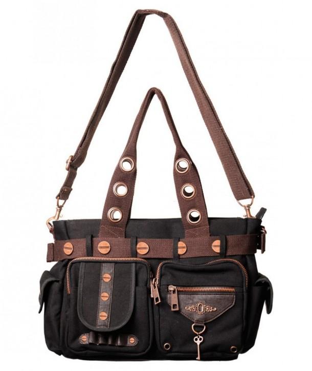 Sac Banned Clothing Black Marron Key Handbag Noir
