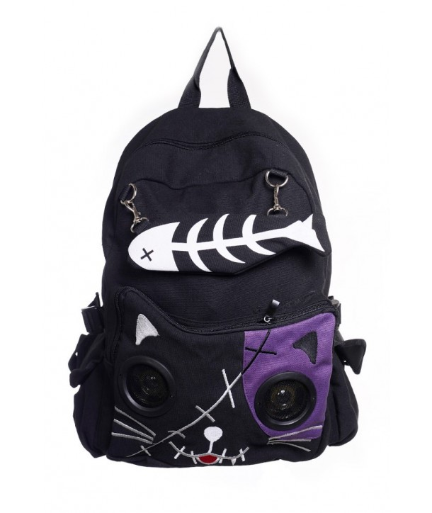 Sac Banned Clothing Kitty Speaker Noir/Violet
