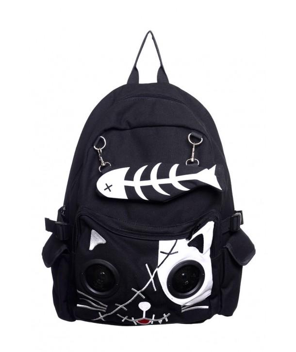 Sac Banned Clothing Kitty Speaker Noir/Blanc