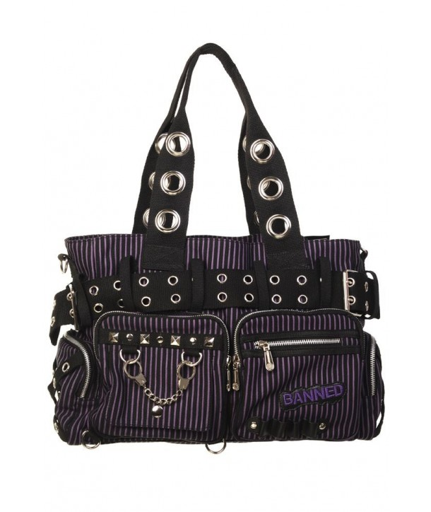 Sac Banned Clothing Handcuff Noir/Violet