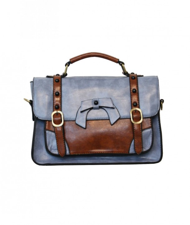 Sac Banned Clothing Buckle With Bow Retro Light Bleu