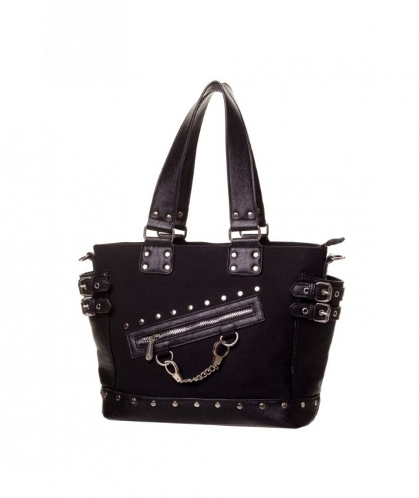 Sac Banned Clothing Handcuff Handbag Noir