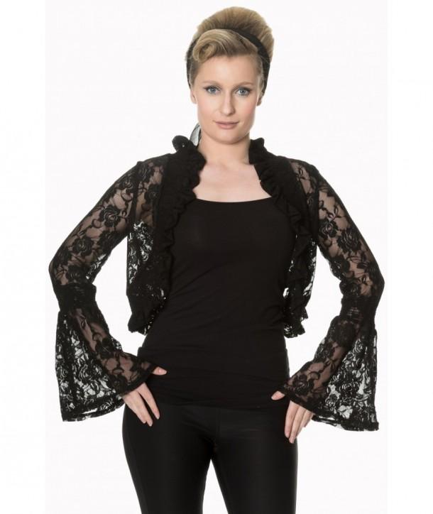 Boleros Banned Clothing Diva Days Top Noir