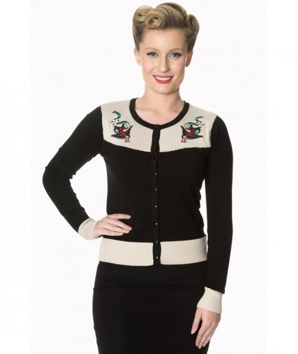 Cardigan Banned Clothing Young Love Cardigan Noir