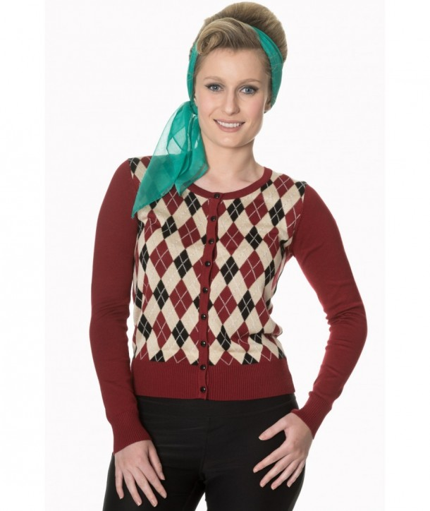Cardigan Banned Clothing Forever Dreaming Cardigan Bordeaux