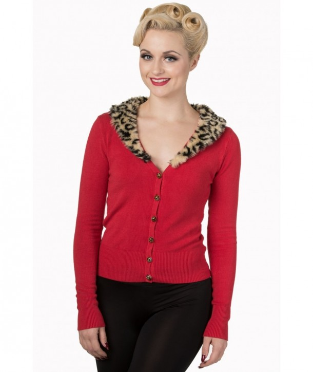 Cardigan Banned Clothing Sweet Nothing Red