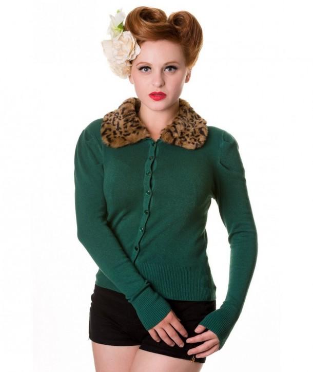 Cardigan Banned Clothing Fur Cardigan Forrest Vert