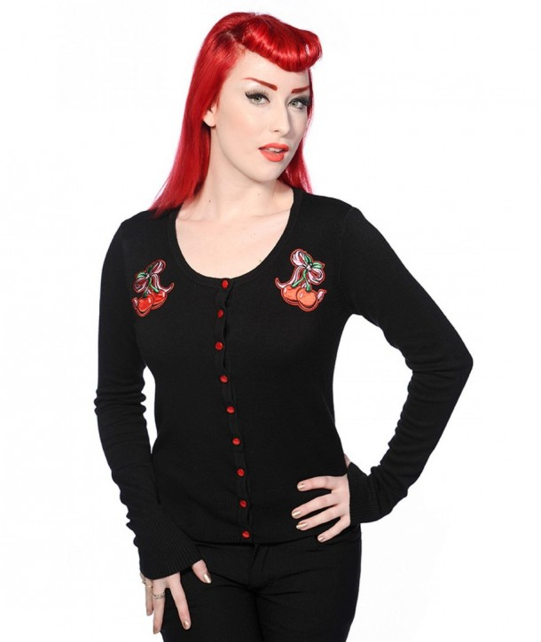 Cardigan Banned Clothing Cherry Bow