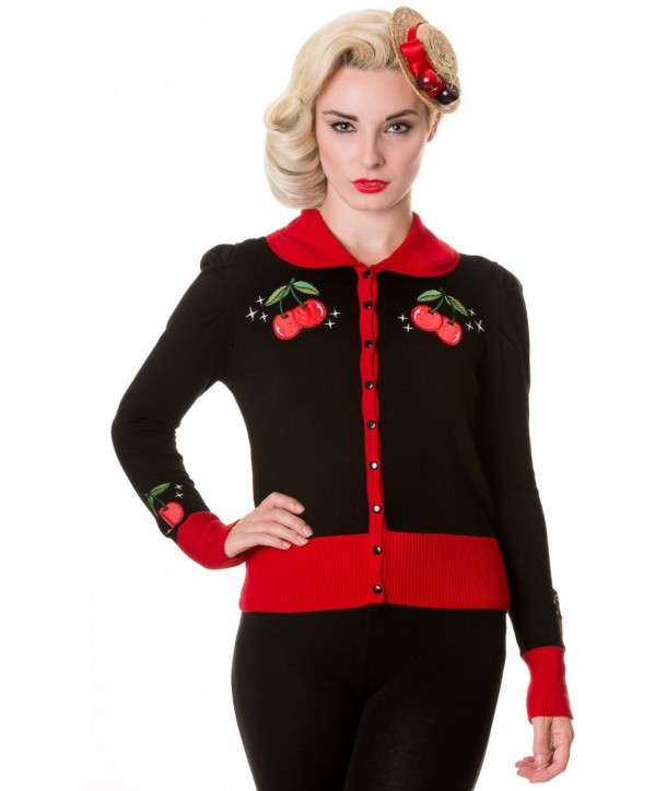 Cardigan Banned Clothing Vintage Cherry