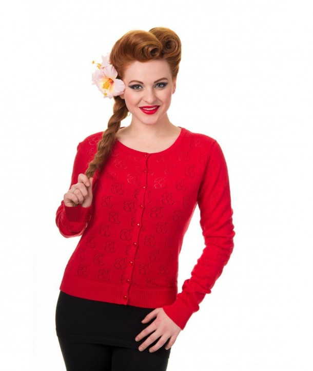 Cardigan Banned Clothing Cadillac Red