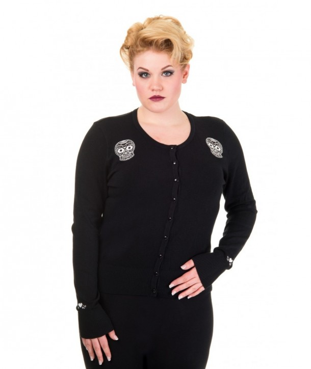 Cardigan Grande Taille Banned Clothing Black Magic