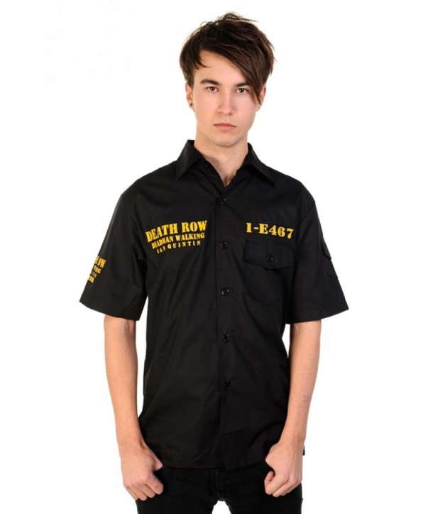 Chemise Banned Clothing Deathrow Shirt Noir