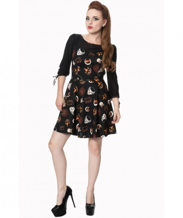 Robe Banned Clothing The Haunted Dress Noir