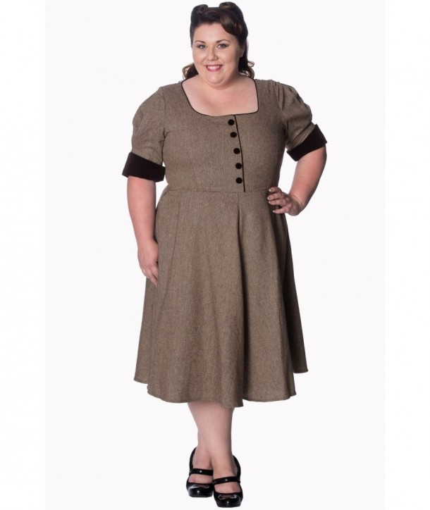 Robe Banned Clothing Lady Luck Dress Marron