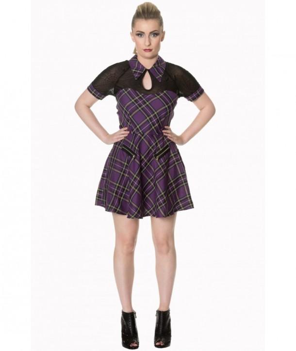 Robe Banned Clothing Dusk Beauty Tartin Dress Violet Tartan