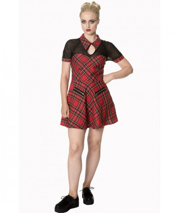Robe Banned Clothing Dusk Beauty Tartin Dress Rouge Tartan
