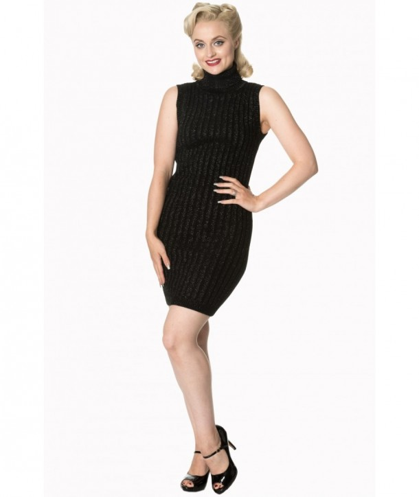 Robe Banned Clothing Rouge Cheeks Knit Dress Noir