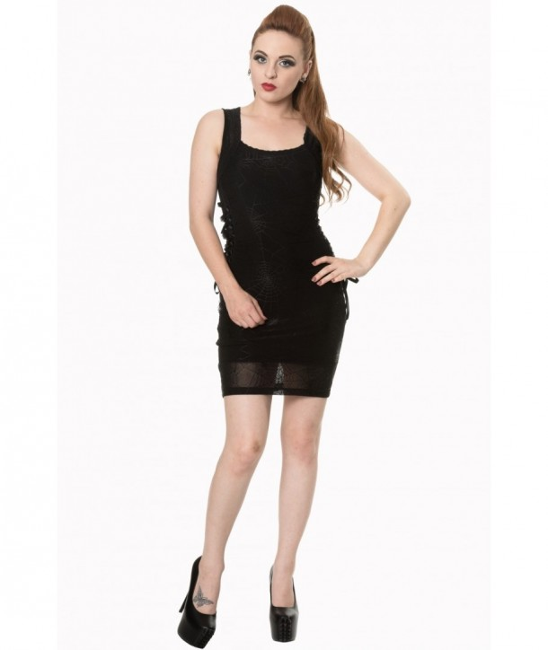 Robe Banned Clothing Gone Without A Trace Lace Dress Noir