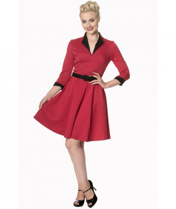 Robe Banned Clothing American Dreamer Collar Dress Rouge