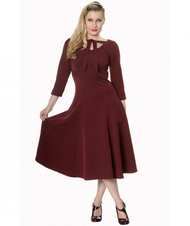 Robe Banned Clothing Eclipse Dress Bordeaux