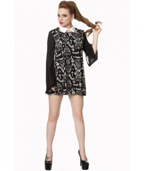 Robe Banned Clothing Moonlight Silence Collar Dress Noir