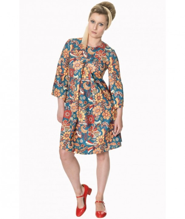 Robe Banned Clothing Floral Dream Angel Sleeve Dress Multicolor