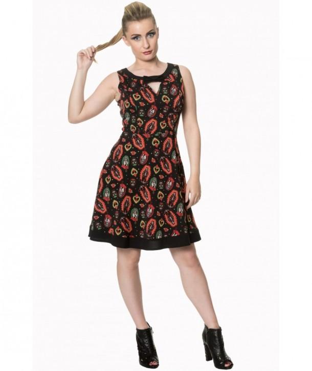 Robe Banned Clothing Sacred Heart Bow Dress Noir
