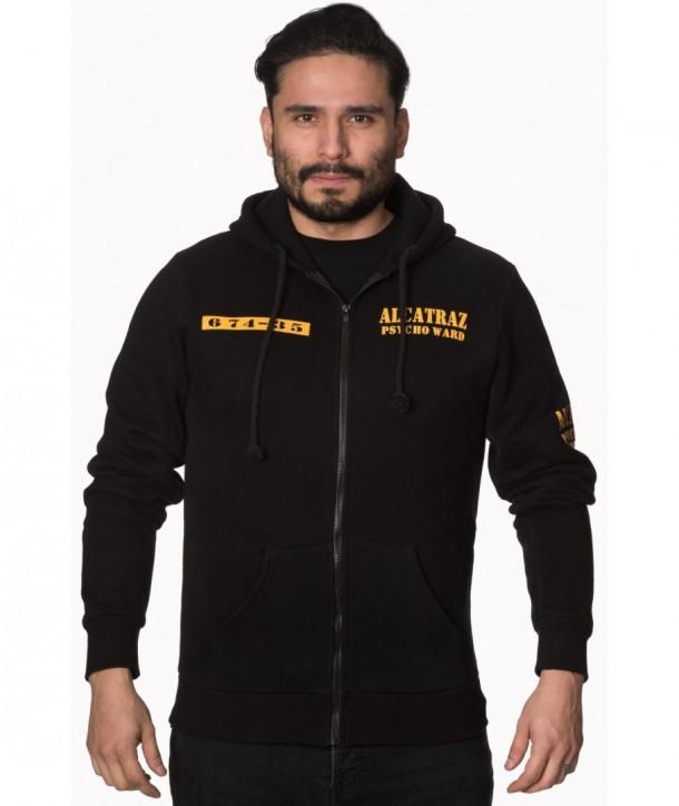 Sweatshirt Banned Clothing Alcatraz Men's Hoody Noir