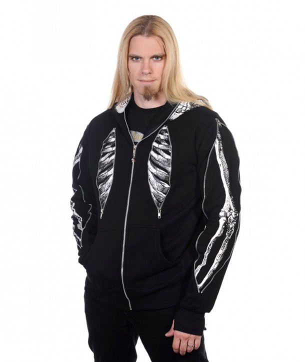 Sweatshirt Banned Clothing Skeleton Bone Men's Hoody Noir