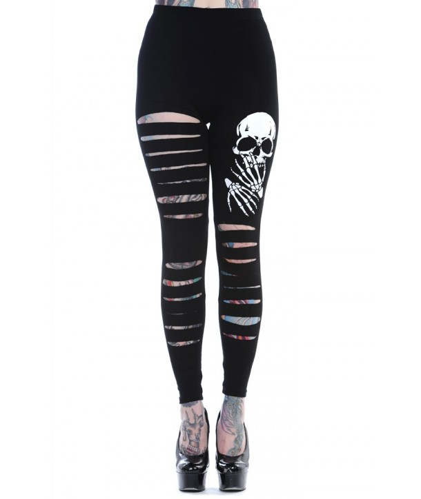 Leggings Banned Clothing Slashed Skull