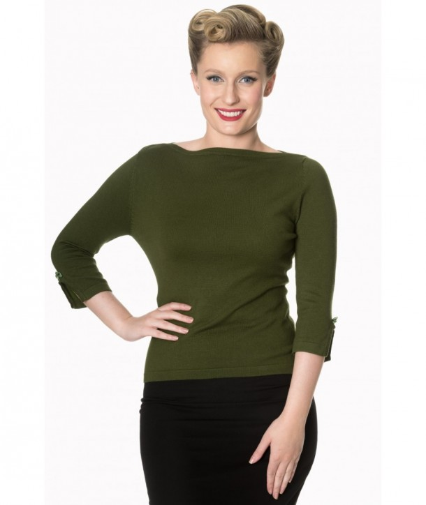 Top Banned Clothing Addicted Sweater Olive