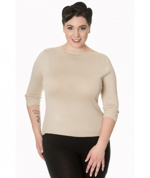 Top Banned Clothing Addicted Sweater Beige