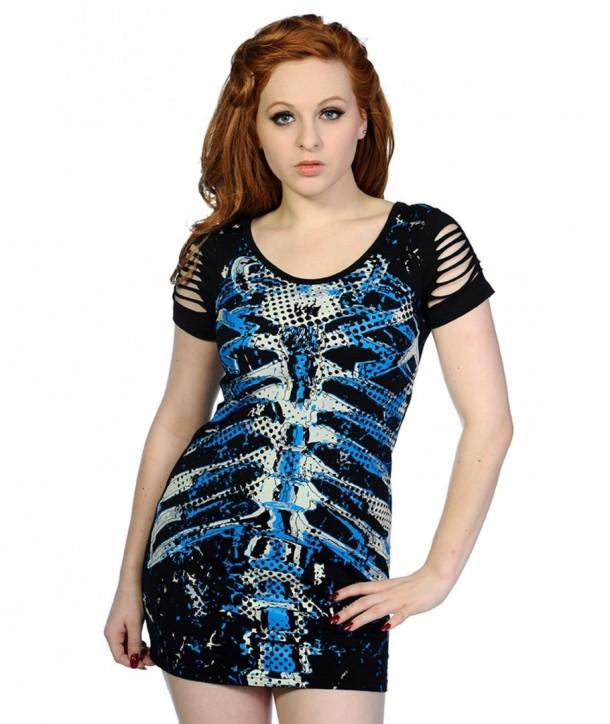 Top Banned Clothing Bleu Ribcage Top Noir
