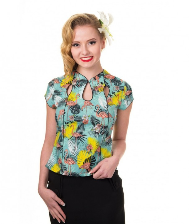 Top Banned Clothing Wanderlust Top Flamingo