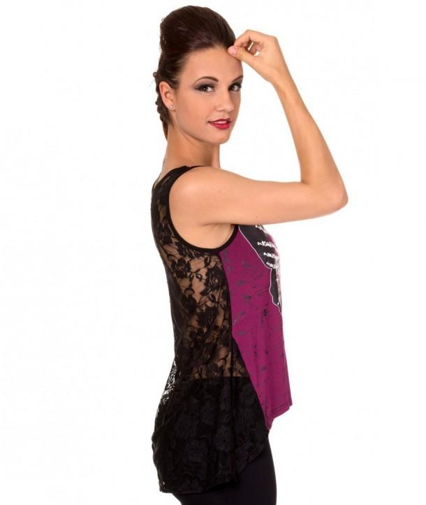Top Banned Clothing Mia Vest Bordeaux/Noir