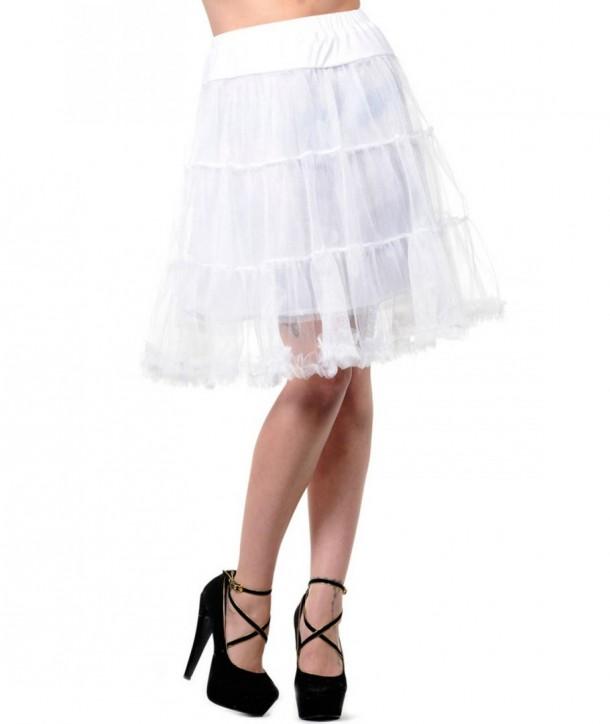 Tutu Banned Clothing Petticoat Skirt Blanc