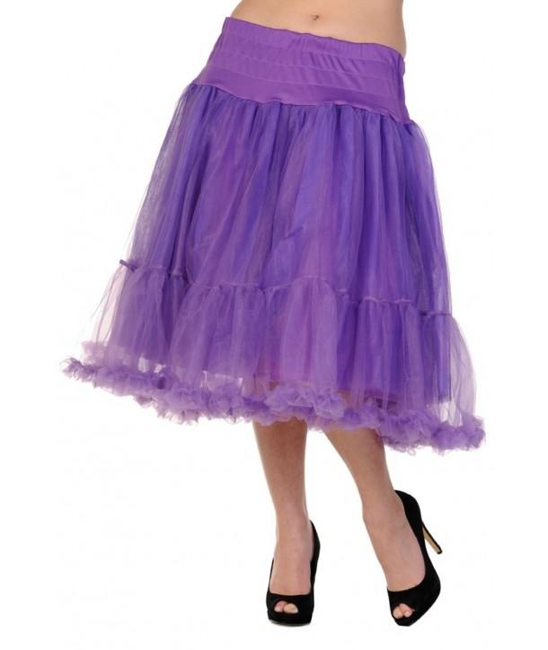 Tutu Banned Clothing Petticoat Long Skirt Violet