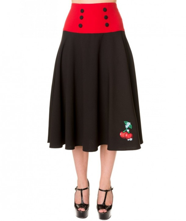 Jupe Banned Clothing Cherry