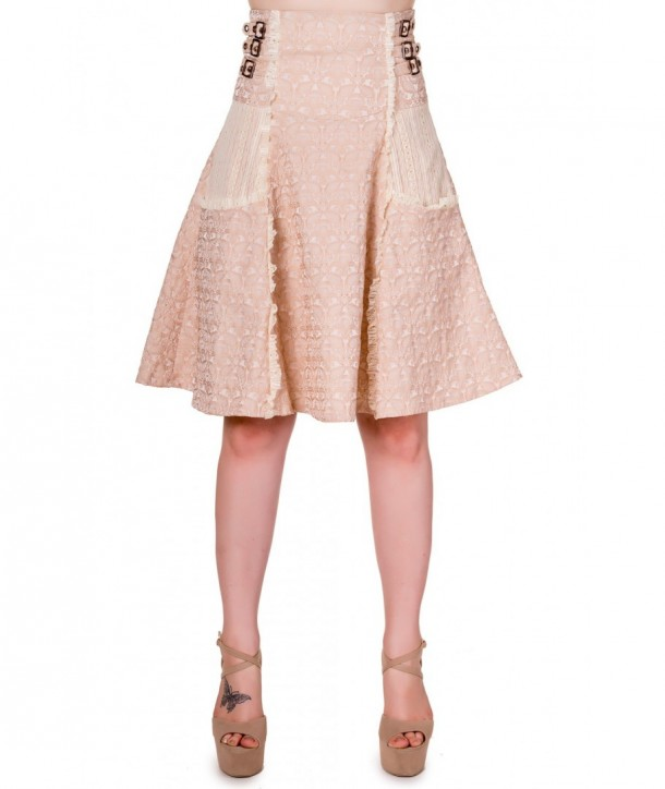 Jupe Banned Clothing Rise Of Dawn Skirt Beige