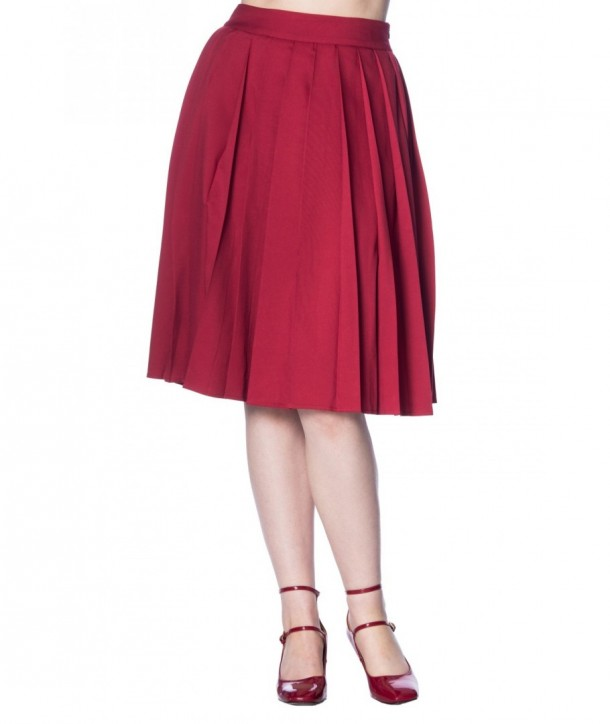 Jupe Banned Clothing Take A Hike Skirt Rouge