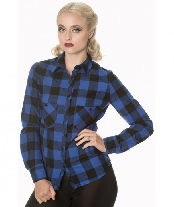 Top Banned Clothing No Boundries Shirt Bleu/Noir